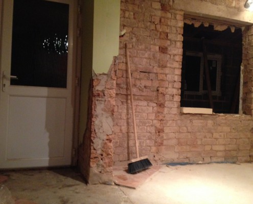 Internal walls come down