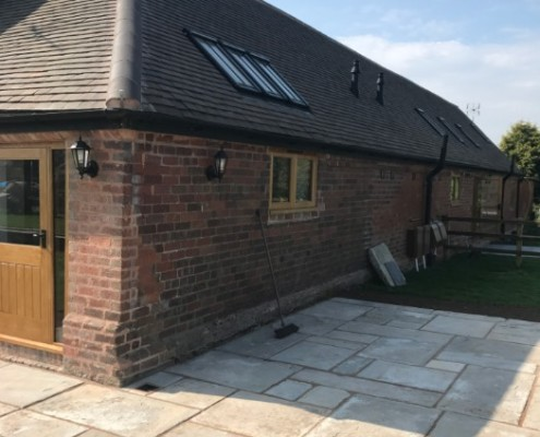 Barn Conversion Patio/Groundwork