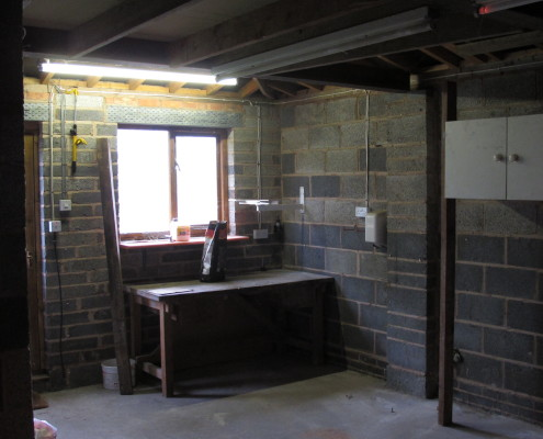 Work inside the garage
